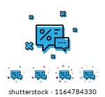 shopping speech bubble line...   Shutterstock .eps vector #1164784330