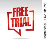 free trial in brackets speech... | Shutterstock .eps vector #1164785890