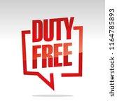 duty free in brackets speech...   Shutterstock .eps vector #1164785893