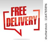 free delivery in brackets... | Shutterstock .eps vector #1164785896
