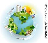 miniature planet | Shutterstock .eps vector #116478760