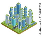 isometric flat eco architecture.... | Shutterstock .eps vector #1164788950