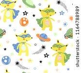 seamless pattern with cute bear ...   Shutterstock .eps vector #1164788989