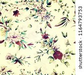 seamless floral background... | Shutterstock . vector #1164793753