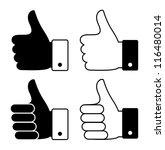thumbs up | Shutterstock .eps vector #116480014