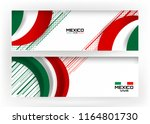 flag of mexico banner... | Shutterstock .eps vector #1164801730