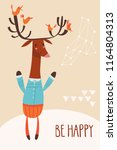 cool vector card or poster with ... | Shutterstock .eps vector #1164804313
