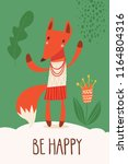 cool vector card or poster with ... | Shutterstock .eps vector #1164804316