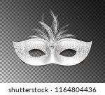 universal carnival mask with... | Shutterstock .eps vector #1164804436