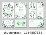 eucalyptus design. wedding... | Shutterstock .eps vector #1164807856
