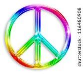 illustration of peace symbol... | Shutterstock . vector #116480908