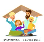 concept of the home of a young... | Shutterstock .eps vector #1164811513