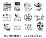 set of 12 card posters... | Shutterstock .eps vector #1164814510