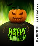 halloween background. vector... | Shutterstock .eps vector #1164816826