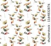 watercolor autumn seamless... | Shutterstock . vector #1164832876