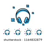 headphones line icon. music... | Shutterstock .eps vector #1164832879