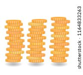coins stacks  golden coins ... | Shutterstock .eps vector #1164833263