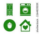 house vector icons set. with... | Shutterstock .eps vector #1164835039