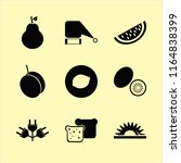 cut vector icons set. with pear ... | Shutterstock .eps vector #1164838399