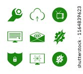 monitor vector icons set. with... | Shutterstock .eps vector #1164839623