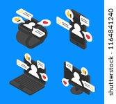 set concept chat message... | Shutterstock .eps vector #1164841240
