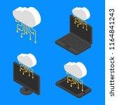set concept cloud network... | Shutterstock .eps vector #1164841243