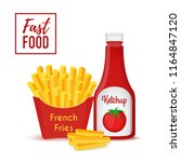 vector fast food collection  ... | Shutterstock .eps vector #1164847120