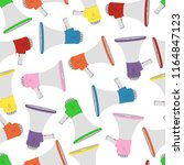 vector megaphone seamless... | Shutterstock .eps vector #1164847123
