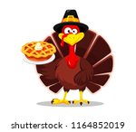 happy thanksgiving  greeting... | Shutterstock .eps vector #1164852019