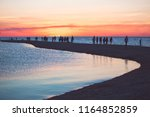 beautiful seascape with people... | Shutterstock . vector #1164852859