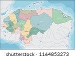 map of el honduras | Shutterstock .eps vector #1164853273