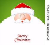 happy santa claus. creative... | Shutterstock .eps vector #116485438