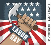 labor day  flayer and banner.... | Shutterstock .eps vector #1164856246