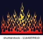 fire flames  illustration... | Shutterstock . vector #1164859810