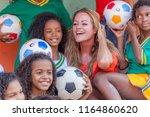 rio de janeiro  brazil   august ...   Shutterstock . vector #1164860620