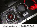 professional concert dj red... | Shutterstock . vector #1164862666