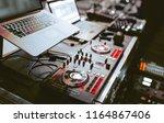close up shot vintage vinyl... | Shutterstock . vector #1164867406