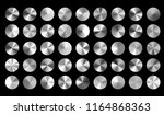 vector set of silver conical... | Shutterstock .eps vector #1164868363