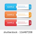 three vector paper tags  ... | Shutterstock .eps vector #116487208