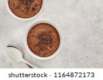 chocolate mousse  souffle  from ... | Shutterstock . vector #1164872173