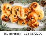 traditional swedish christmas... | Shutterstock . vector #1164872200