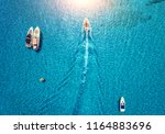 yachts at the sea in balearic... | Shutterstock . vector #1164883696
