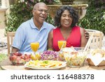 a happy  smiling man and woman... | Shutterstock . vector #116488378