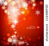 christmas background with... | Shutterstock .eps vector #116488930