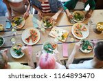 overview of tasty food on... | Shutterstock . vector #1164893470