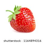 strawberry isolated on white... | Shutterstock . vector #1164894316