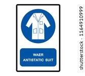 wear anti static suit symbol... | Shutterstock .eps vector #1164910999