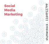 social media icons. social... | Shutterstock .eps vector #1164912799