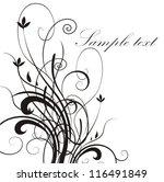 floral background | Shutterstock .eps vector #116491849