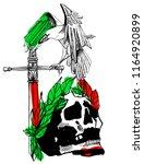 skull gothic style art  tattoo... | Shutterstock .eps vector #1164920899